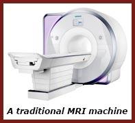 A traditional MRI machine